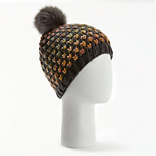 Buy Numph Wampee Bobble Hat, Phantom Online at johnlewis.com