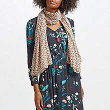 Buy Becksondergaard Fine Summer Star Scarf, Rosewood Online at johnlewis.com