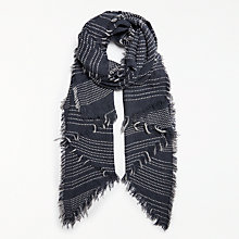 Buy Numph Otrahille Scarf, Dark Blue Online at johnlewis.com
