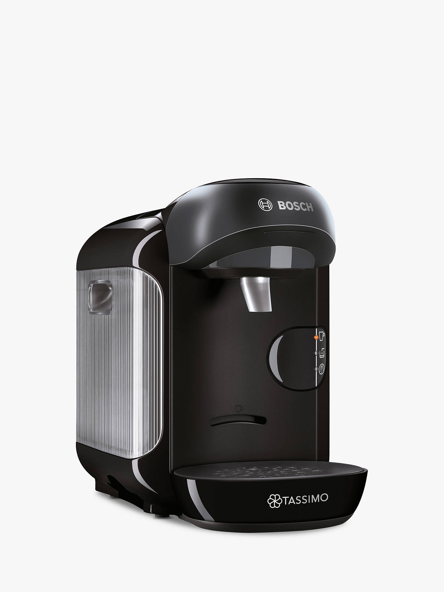 Tassimo Vivy Coffee Machine by Bosch, Black at John Lewis ...