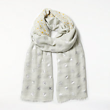 Buy AND/OR Metallic Stars Wool Silk Blend Scarf, Light Grey Online at johnlewis.com