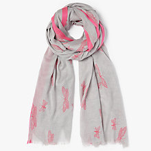 Buy John Lewis Neon Bugs Border Scarf, Grey Mix Online at johnlewis.com