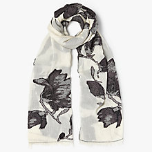 Buy John Lewis Chinoisserie Jacquard Floral Scarf, Charcoal/White Online at johnlewis.com