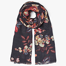 Buy Modern Rarity Archive Floral Wool Silk Blend Scarf, Navy/Multi Online at johnlewis.com