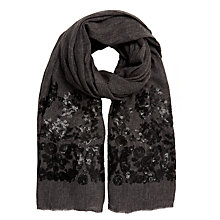 Buy John Lewis Matt Sequin Scarf, Grey/Black Online at johnlewis.com