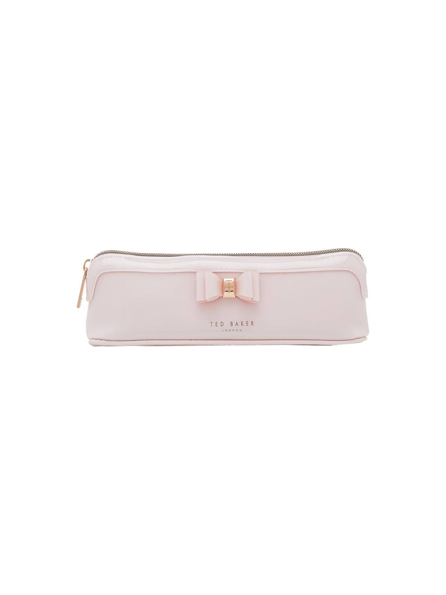buy online 58fb2 ef679 Ted Baker Jass Bow Pencil Case, Dusky Pink
