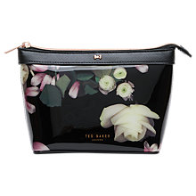Buy Ted Baker Zaire Kensington Floral Makeup Bag, Black Online at johnlewis.com