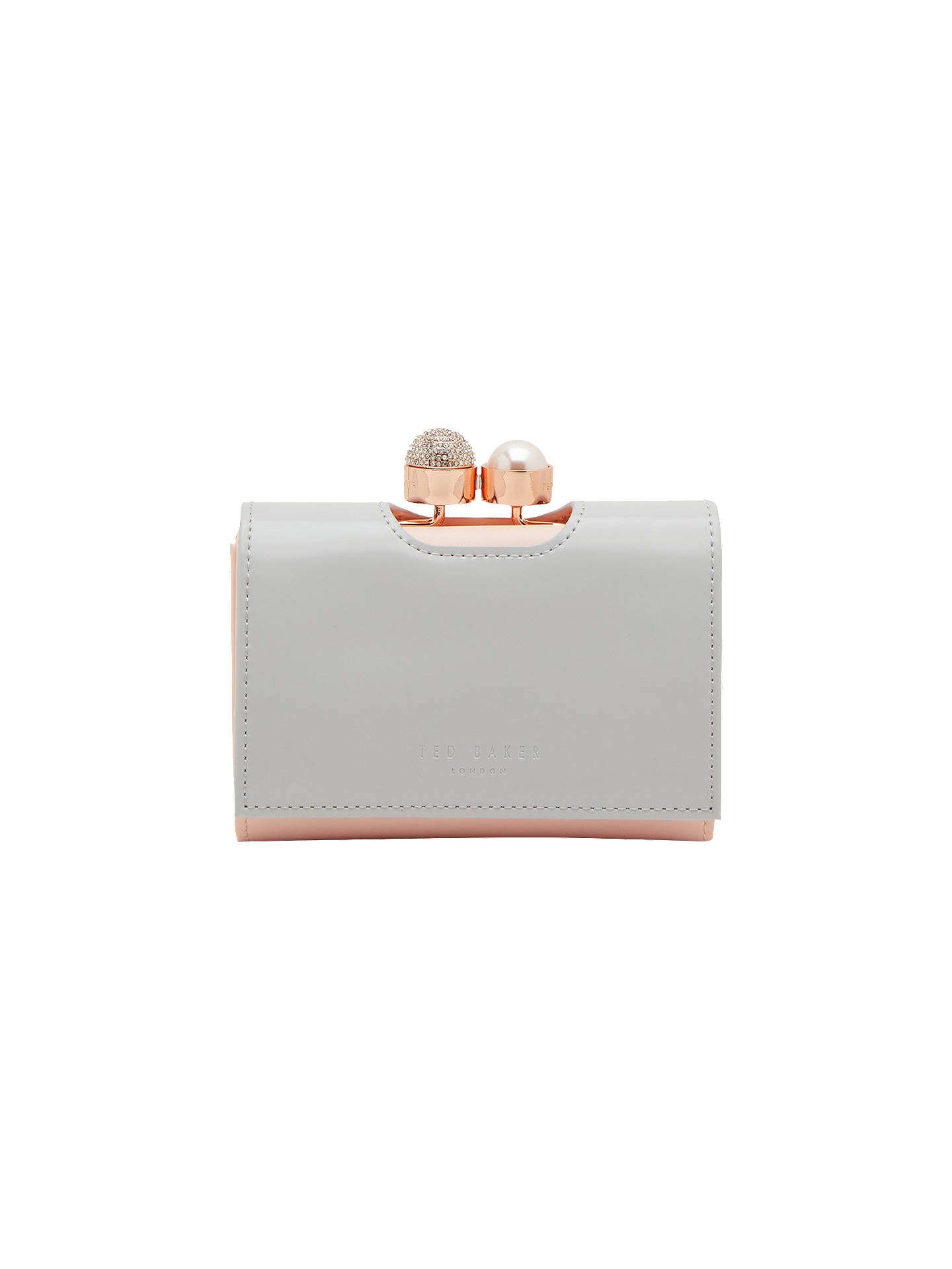 da46308cc012c Ted Baker Emmey Leather Small Pearl Bobble Purse at John Lewis ...