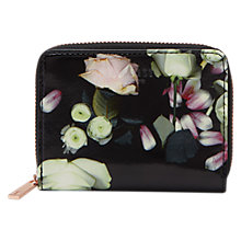 Buy Ted Baker Mayycie Kensington Floral Leather Mini Coin Purse, Black Online at johnlewis.com