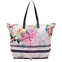 Buy Ted Baker Otallie Painted Poise Foldaway Shopper Bag, Baby Pink Online at johnlewis.com