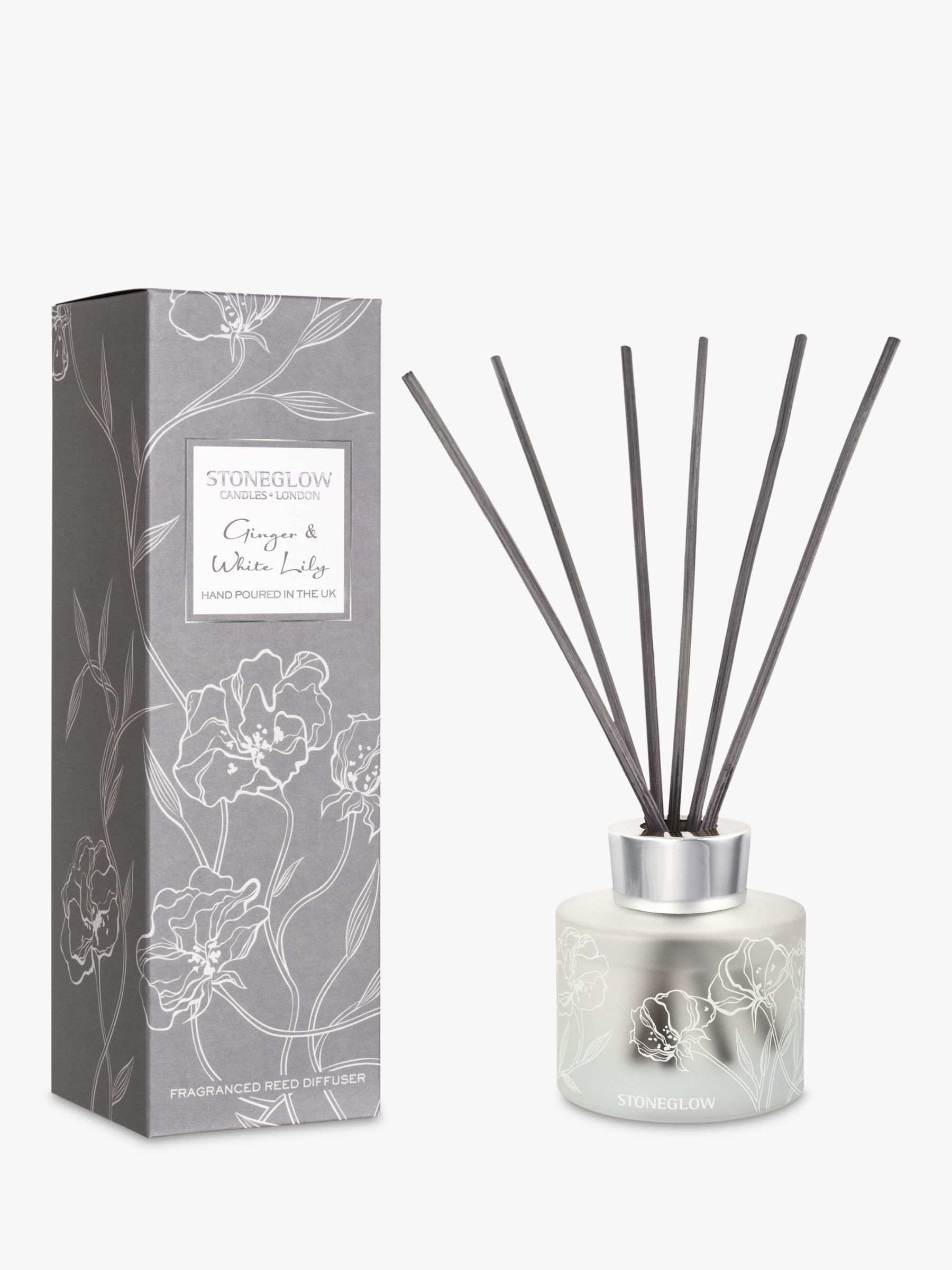 Stoneglow Stoneglow Day Flower Ginger & White Lily Reed Diffuser, 120ml