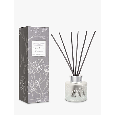 Stoneglow Day Flower White Linen & Cotton Diffuser, 120ml