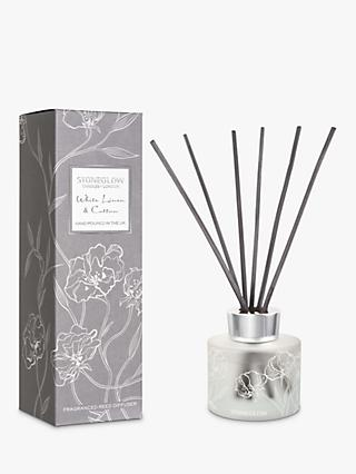 Stoneglow Day Flower White Linen & Cotton Reed Diffuser, 120ml