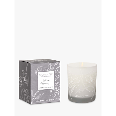 Stoneglow Day Flower White Hydrangea Candle