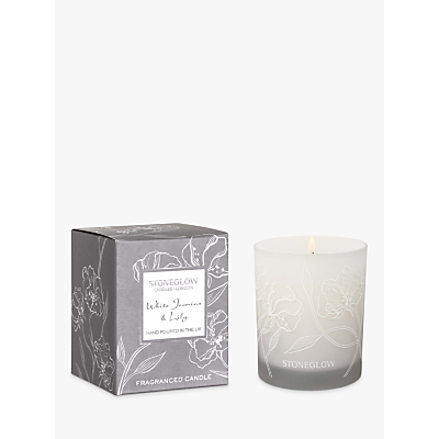 Stoneglow Day Flower White Jasmine & Lily Candle