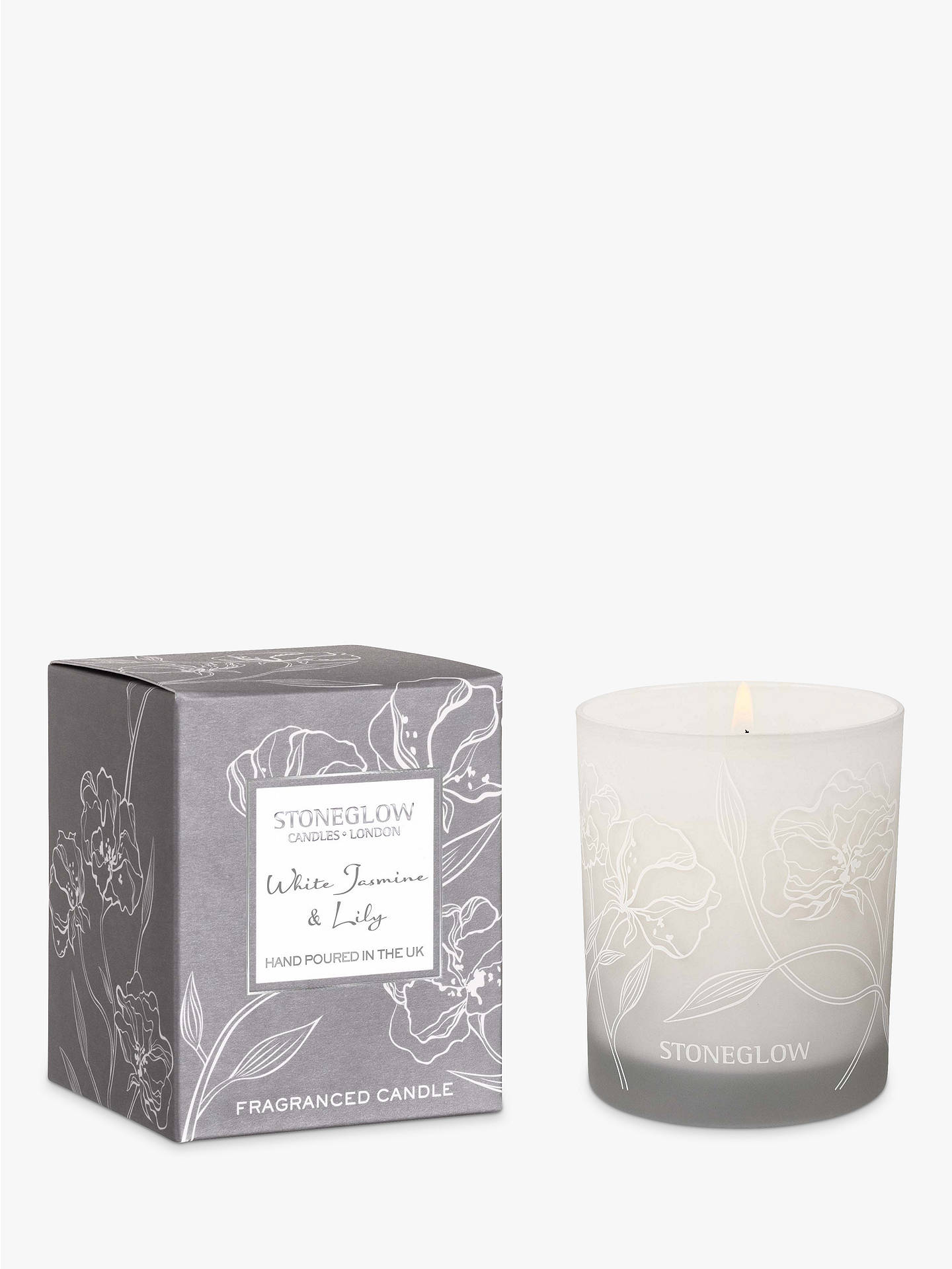 33ed64dd5e Buy Stoneglow Day Flower White Jasmine   Lily Scented Candle