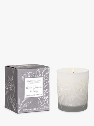 Stoneglow Day Flower White Jasmine & Lily Scented Candle