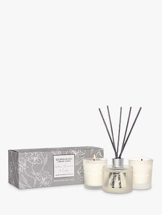 Buy Stoneglow Day Flower White Jasmine & Lily Gift Set Online at johnlewis.com