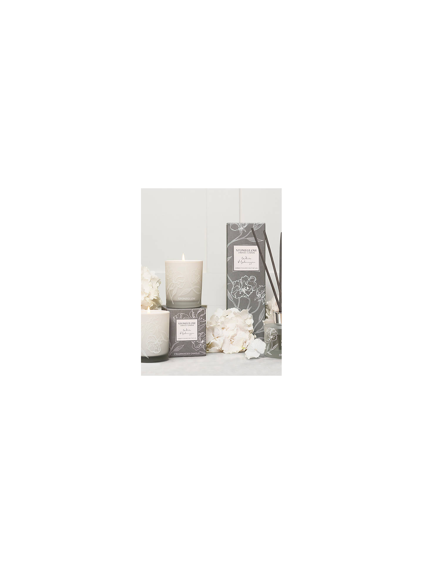 Buy Stoneglow Day Flower White Hydrangea Gift Set Online at johnlewis.com