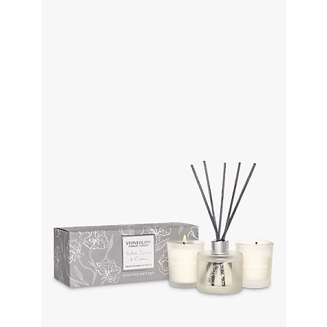 Buy Stoneglow Day Flower White Linen & Cotton Gift Set Online at johnlewis.com