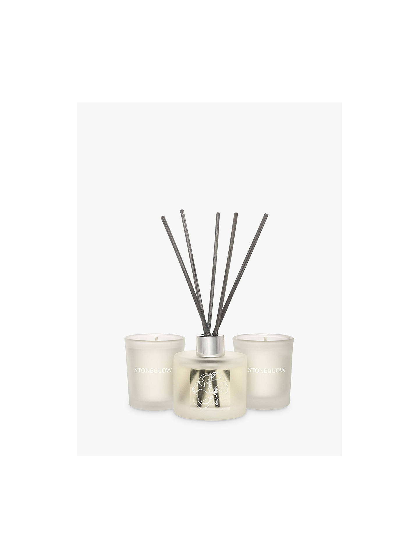 BuyStoneglow Day Flower White Linen & Cotton Gift Set Online at johnlewis.com