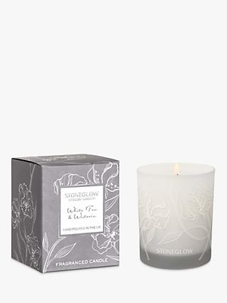 Stoneglow Day Flower White Tea & Wisteria Scented Candle