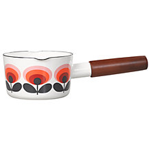 Buy Orla Kiely 70s Oval Flower Milk Pan, White/Orange, Dia.13.5cm Online at johnlewis.com