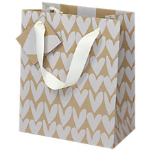 Buy Caroline Gardner Kraft Heart Gift Bag Online at johnlewis.com