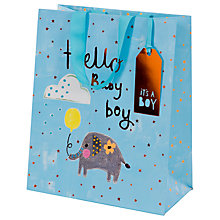 Buy Paper Salad Hello Baby Gift Bag, Large Online at johnlewis.com