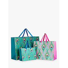Buy John Lewis Peacock Feather Gift Bag Online at johnlewis.com