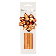 Buy John Lewis Ribbon and Gift Bow, Copper Online at johnlewis.com