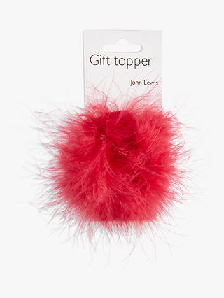 Buy John Lewis & Partners Feather Pom Pom Bow, Pink Online at johnlewis.com