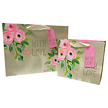 Buy Paper Salad Floral With Love Gift Bag Online at johnlewis.com