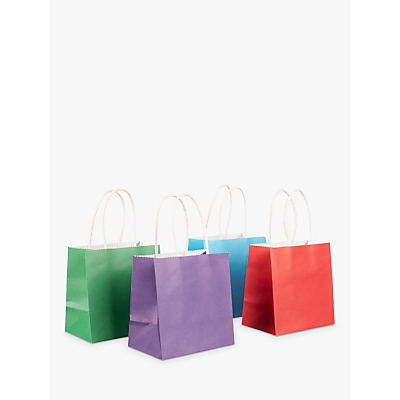 Image of John Lewis & Partners Bright Mini Gift Bags, Pack of 4
