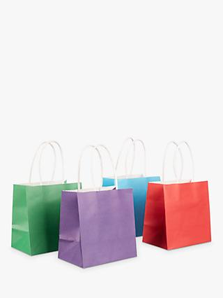 John Lewis & Partners Bright Mini Gift Bags, Pack of 4