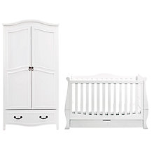 Buy Silver Cross Windsor Sleigh Cotbed and Wardrobe, Solid White Online at johnlewis.com