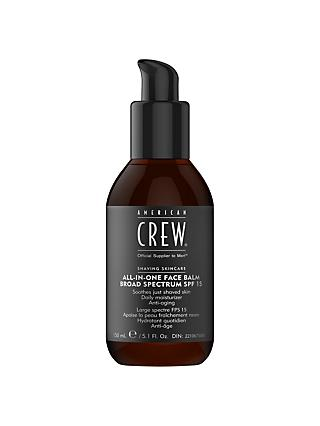 American Crew All-In-One Face Balm Broad Specture SPF 15, 150ml