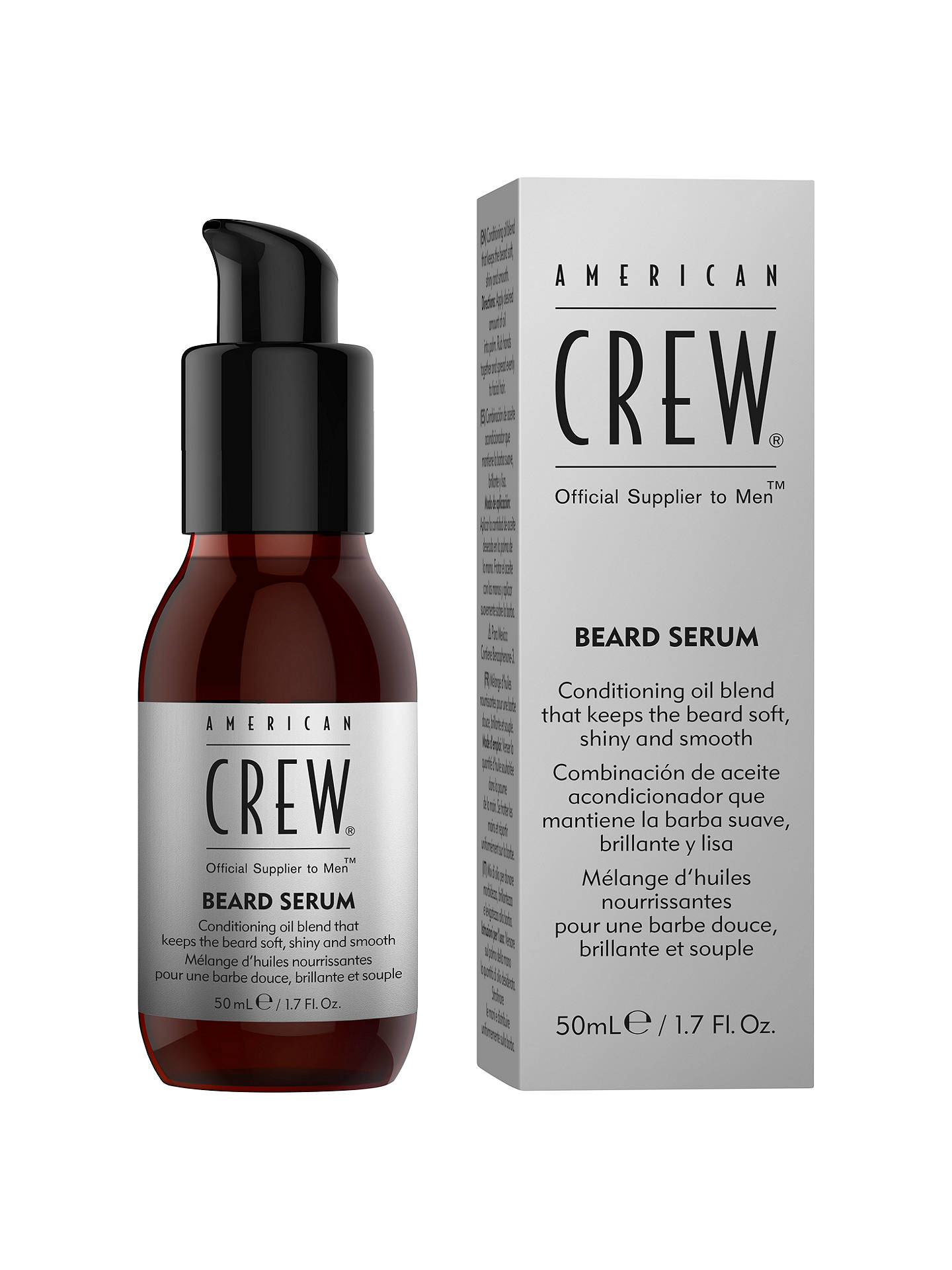 Buy American Crew Beard Serum, 50ml Online at johnlewis.com