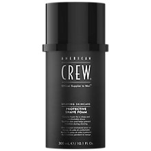 Buy American Crew Protective Shave Foam, 300ml Online at johnlewis.com
