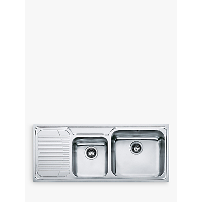 Franke Galassia GAX 621 1.75 Bowl Inset Kitchen Sink with Right Hand Bowl, Stainless Steel