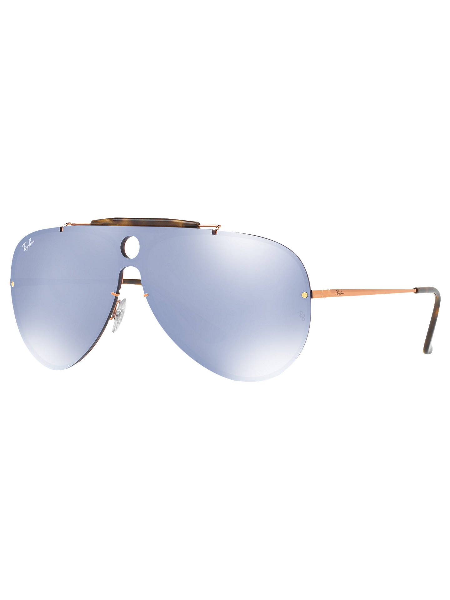 6ae606b0eab Ray-Ban RB3581N Blaze Shooter Aviator Sunglasses at John Lewis ...