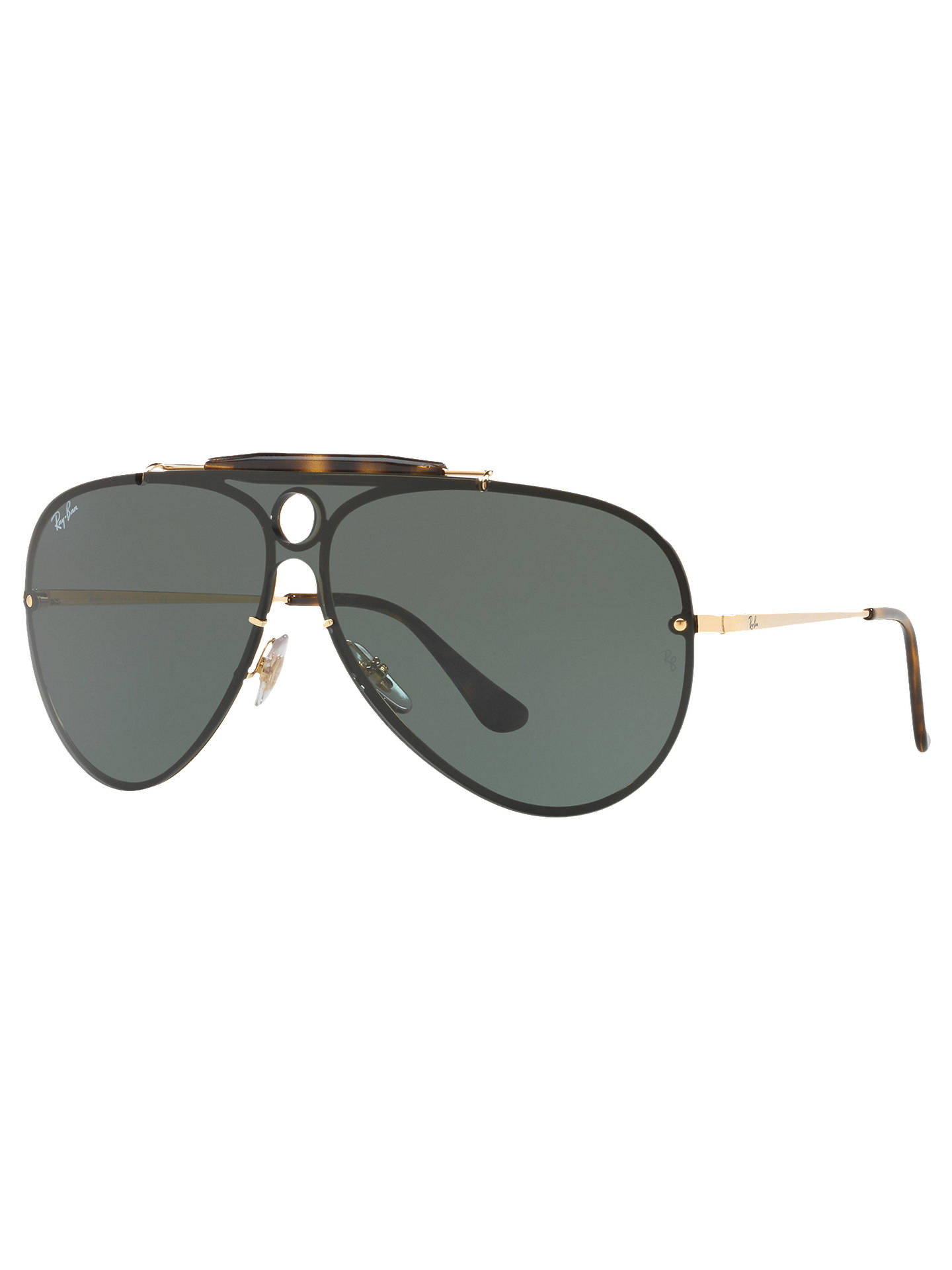 707d3df23ed4b BuyRay-Ban RB3581N Blaze Shooter Aviator Sunglasses, Gold Green Online at  johnlewis.