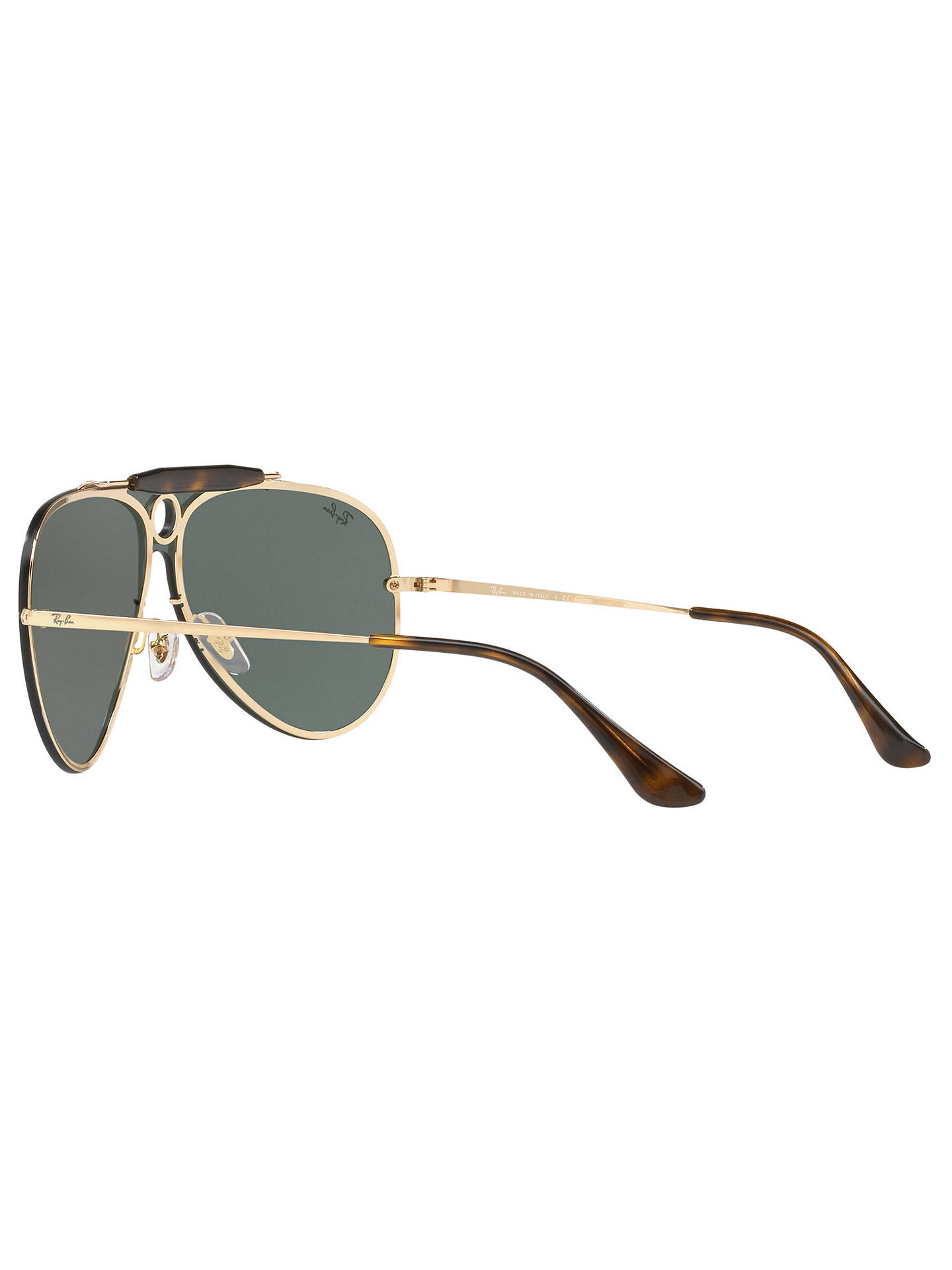 BuyRay-Ban RB3581N Blaze Shooter Aviator Sunglasses, Gold/Green Online at johnlewis.com