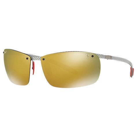 17bc66aca2 Buy Ray-Ban RB8305M Polarised Scuderia Ferrari Collection Rectangular  Sunglasses