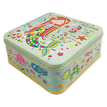 Buy Rachel Ellen Mermaid Secret Treasures Square Tin Online at johnlewis.com