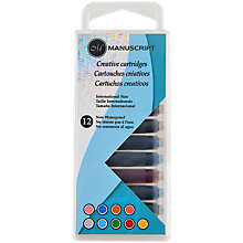 Buy Manuscript Calligraphy Assorted Coloured Ink Cartridges, Pack of 12 Online at johnlewis.com