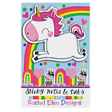 Buy Rachel Ellen Unicorn Sticky Notes Online at johnlewis.com