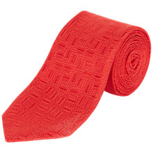 Buy Jaeger Silk Textured Geometric Tie Online at johnlewis.com
