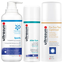 Buy Ultrasun SPF20 Sports Sun Protection Gel, 400ml and Ultrasun Cooling & Moisturising After Sun Cream with Gift Online at johnlewis.com