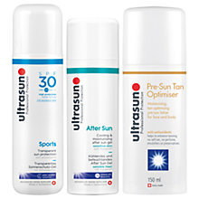 Buy Ultrasun SPF 30 Sports Gel, 200ml And Ultrasun Cooling & Moisturising After Sun Cream, 150ml with Gift Online at johnlewis.com